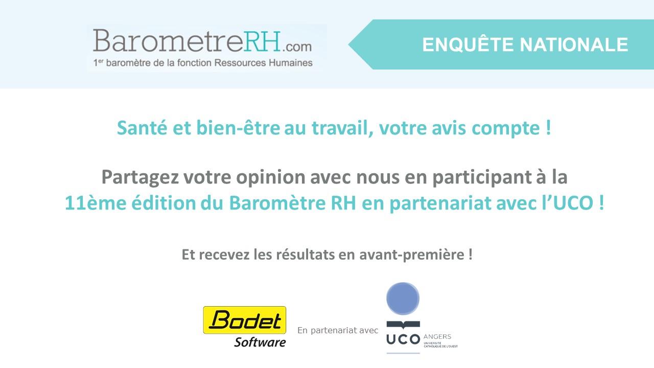 Participez au baromètre RH 2018 Bodet Software / UCO